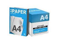 5 REAMS - 2,500 SHEETS - 80GSM - A4 BRIGHT WHITE COPY PAPER - VAT RECEIPT - ALL PRINTERS - LAPTOPS