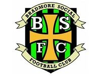 Bradmore Social FC, Wolverhampton, looking for experienced players for the 2017-18 season
