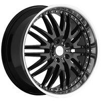 "20"" Black machined rims 5X120  #Z04"
