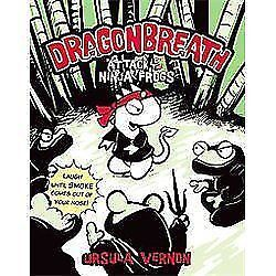 Dragonbreath-2-Attack-of-the-Ninja-Frogs-by-Ursula-Vernon-c2012-NEW-Paperback