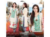 Heavy embroidered Gul Ahmed Maria b Charizma threads motif Unstitched high quality BIG EID DISCOUNT