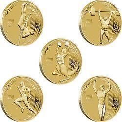 2012 AUSTRALIAN OLYMPIC TEAM $1 FIVE-COIN SET IN FOLDER