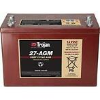 Trojan Accu 27-AGM Deep Cycle AGM 12V 89Ah 318x174x203x221