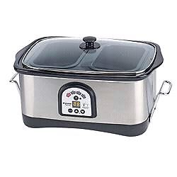 Like  NEW  Bravetti 8 qt Stainless Steel Slow Cooker /Mijoteuse