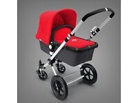 Bugaboo cameleon in red/grey - new chassis, with extras. REPOSTED at reduced price