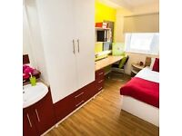 Highly decorative, CHEAP and functional single room within lively student halls in Holloway, London.