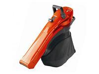 Orange flymo garden vacuum