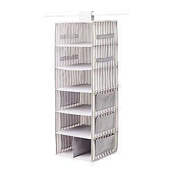 Ikea SVIRA grey and white hanging storage