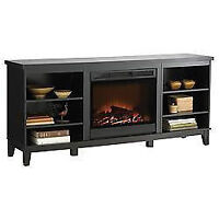 electric fireplace and storage tv stand warranty-$269.99