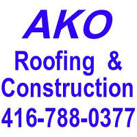 Roof Repair & Re-roofing, flat roof,pitched roof 416-788-0377