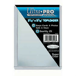 "Ultra Pro .... 3 1/2"" x 5 1/8"" .... TOP LOADERS"