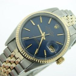 Rolex Original two-tone datejust with blue dial 1601
