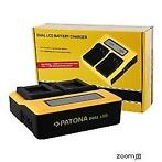 PATONA Dual LCD USB Charger for Sony NP-FM50 VW-VBD1 BN-V607