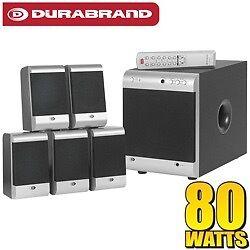 DURABRAND 5.1 SURROUND SOUND HOME THEATRE SPEAKER SYSTEM HT 3917