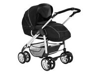 Silver Cross Linear Freeway Complete travel system including isofix base and car seat