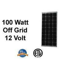Solar Panel 100 watts 12V great on RV or Cabin