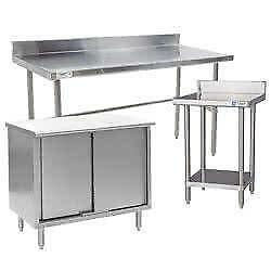 Make Food Preparation More Organized and Efficient with Kitchen Work Tables - New & Used Available at Discounted Prices!