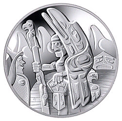 2005 WELCOME FIGURE TOTEM POLE Sterling SILVER COIN