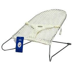 New Mesh Baby Bouncer Rocker Safety Harness White in colour