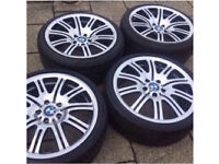 Bmw e46 m3 wheels polished staggered