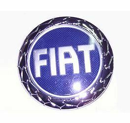 fiat punto 2003 fregio cofano anteriore stemma logo blu 95 mm ebay. Black Bedroom Furniture Sets. Home Design Ideas