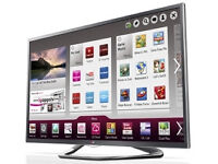 lg42la641v . smart with wifi build in. 3d. mint condition . fully working order. warranty with it