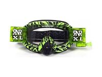 Motocross Goggles By Rip N Roll at Anniversary price Hybrid XL 36mm Wild Green