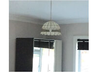 Decorative mother of pearl light shade - vintage