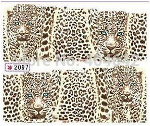 Leopard Panther Water Transfer Stickers Nail Decals