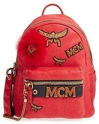 """MCM """"Stark Leather & Genuine Lamb Fur Insignia Backpack"""" - Over 50% off!"""
