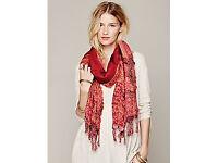 Free People Trippy Paisley Pattern scarf