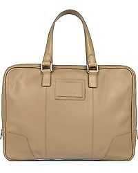 Reiss Men's Leather Beige Barrington Business Bag BRAND NEW