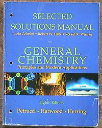 Chemistry book and solutions  problem solver