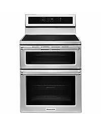 212- NEUF - NEW Four / Cuisinière DOUBLE PORTE STAINLESS  KITCHEN AID DOUBLE DOOR   Stove / Oven