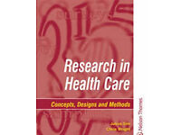 Research in healthcare concepts,designs and methods book for sale
