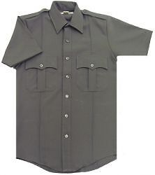 Grey Uniform Button Down BDU Shirt