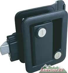 Fastec-RV-Travel-Trailer-Camper-Entry-Door-Lock-Handle-Knob-Deadbolt-Black-43610