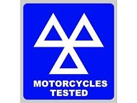 Cars bikes and trike mot testing