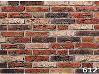 Brick tiles (slips) Victorian Antique red/black/white ref 612NF Hand molding