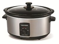 Morphy Richards Oval Stainless Steel Slow Cooker 3.5L - used