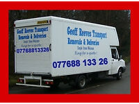 Removal service or man & van.. Call Geoff for a quote.. Hourly or fixed prices..Based Northfield