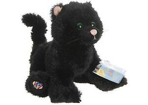 HM135-Webkinz-Black-Halloween-Cat-Plush-w-Sealed-Code-8-NEW