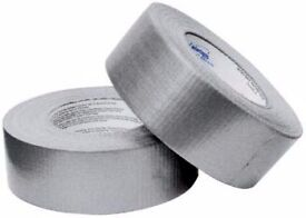 Duck Ultimate Cloth Tape 50 Mesh Silver 50mm x 25m. 200 pieces available