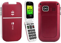 DORO FLIP PHONE 410 LIKE NEW IN BOX, UNLOCK FOR ROGERS/CHATR SAL