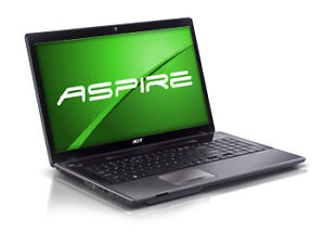Acer Laptop i3 CPU 4.0 GB Ram 500 GB HDD Win 7. Needs a Keyboard