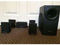 PANASONIC home theatre sound speakers + sub woofer
