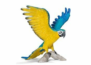 Blue-And-Yellow Macaw Schleich toy figure NEW * Wild Life