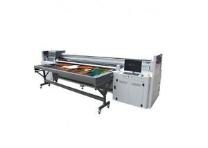 Chinese automatic portable Eco & Solvent flatbed printer