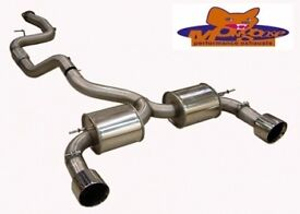 FOCUS ST MK 2 CAT BACK EXHAUST MONGOOSE SECTION 59,
