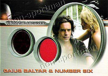 Battlestar Galactica Costume (BATTLESTAR GALACTICA COSTUME DC5 BALTAR AND NUMBER)